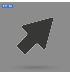image black arrow Icon vector image