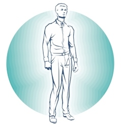 Single Business standing Man vector image vector image