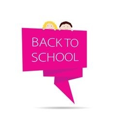 Back to school with kids color vector