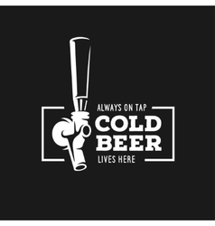 Beer tap with quote vintage vector