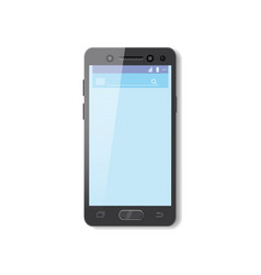 black smartphone with blue screen phone mobile vector image