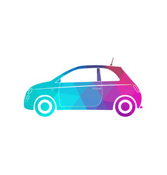 colorful modern car silhouette polygon style vector image
