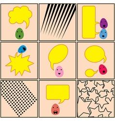 egg talk pattern vector image vector image