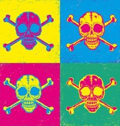 skull pop art vector image