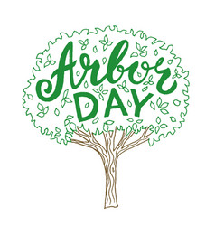 arbor day vector image vector image