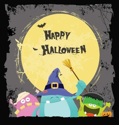 Halloween Monsters Card vector image vector image