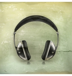 Head phones old-style vector image vector image