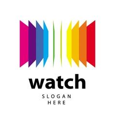 Logo range of colored folders vector