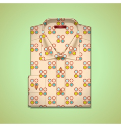 shirt into a large peas vector image vector image