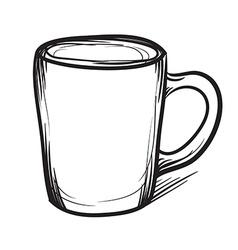 Tea cup hand drawn Cup icon vector image vector image