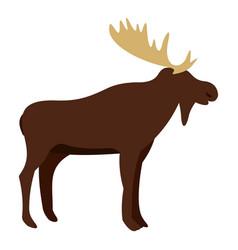Wild elk icon isolated vector