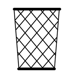 A wastebasket is placed vector