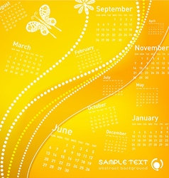 Abstract floral calendar vector