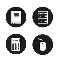 Accounting glyph icons set vector