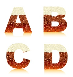 alphabet dark beer vector image
