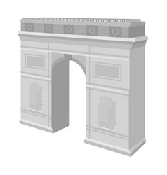 arc de triomphe in paris arch building single vector image