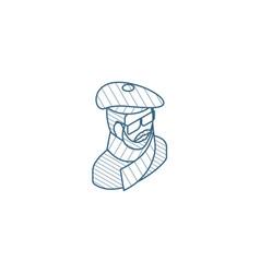 artist avatar arts portrait isometric icon 3d vector image