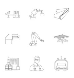 Automotive industry and other web icon in outline vector