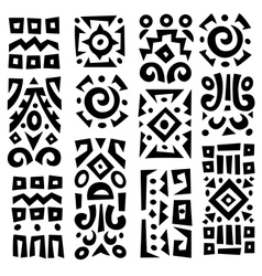 Background with elements of african ornament vector