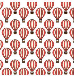 balloons air travel icon vector image