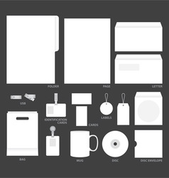 blank templates vector image