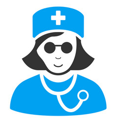 blind nurse flat icon vector image