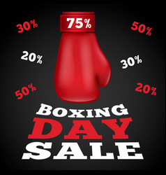 boxing day sale concept background realistic vector image