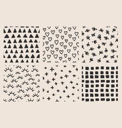 brush seamless pattern vector image