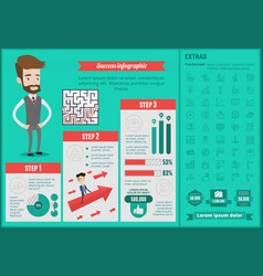 business success infographic template vector image