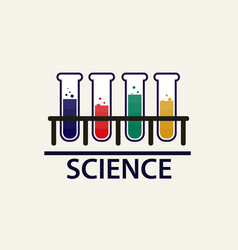 chemical vial science banner vector image
