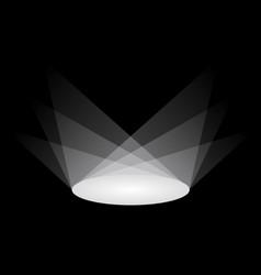 circle light shadow vector image