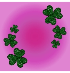clover shamrock as a symbol of holiday St Patrick vector image