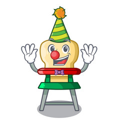 clown baby highchair isolated on the mascot vector image