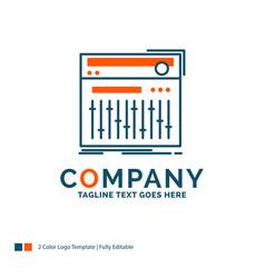 Control controller midi studio sound logo design vector