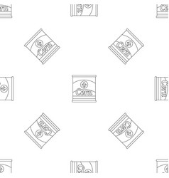 corn can pattern seamless vector image