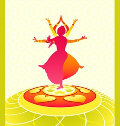 dancing onam holiday vector image