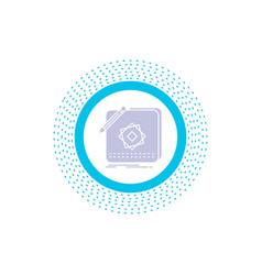 design app logo application design glyph icon vector image