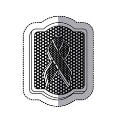 Emblem black breast cancer icon vector