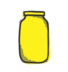 Empty mason jar isolated vector