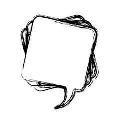 Figure square chat bubble icon vector