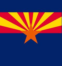 Flag arizona usa vector