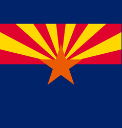 flag of arizona usa vector image