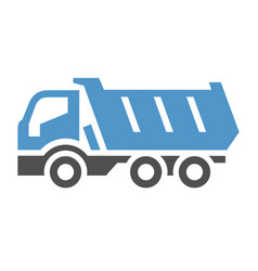 Freight transport icon vector