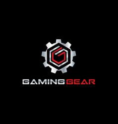 gaming gear logo symbol vector image