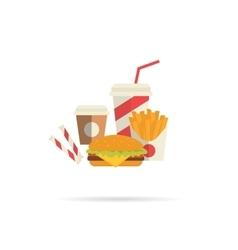 Hamburger and attributes vector