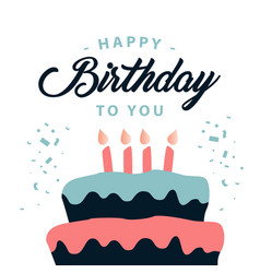 happy birthday to you template design vector image