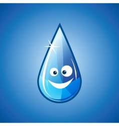 Happy water drop vector