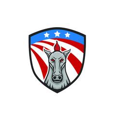Horse mascot head design element sport emblem vector