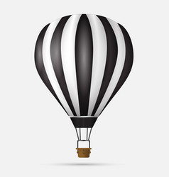 hot air balloon icon modern minimal flat design vector image