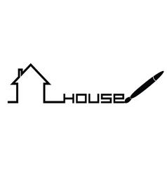 house in black vector image